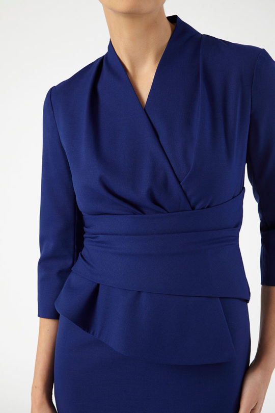 Arlington Dress Indigo Blue Honeycomb