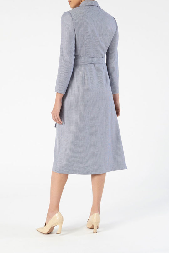 Avignon Dress Blue Jacquard 4