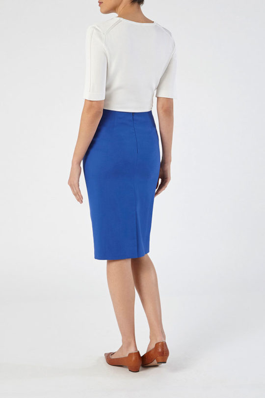 Clissold Skirt Blue Honeycomb 4