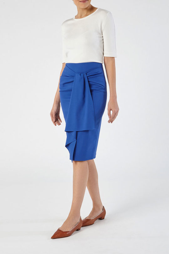 Clissold Skirt Blue Honeycomb 3