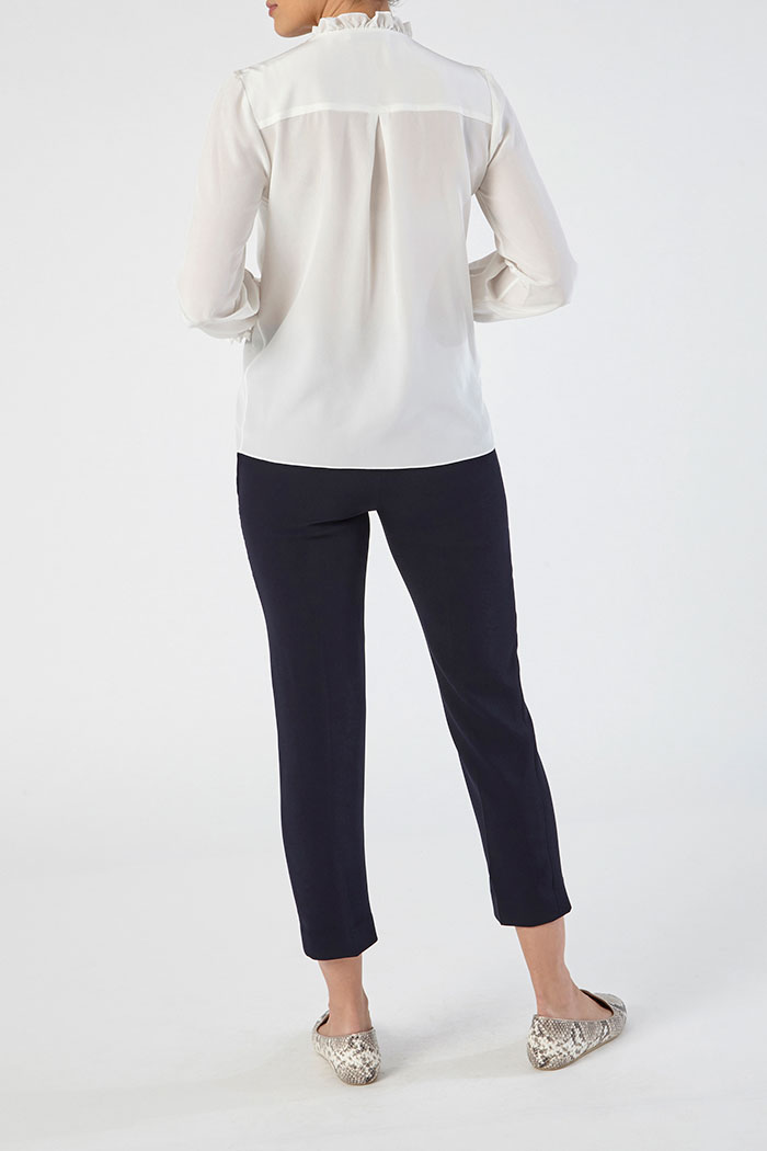 Tierney Blouse Ivory Silk 4