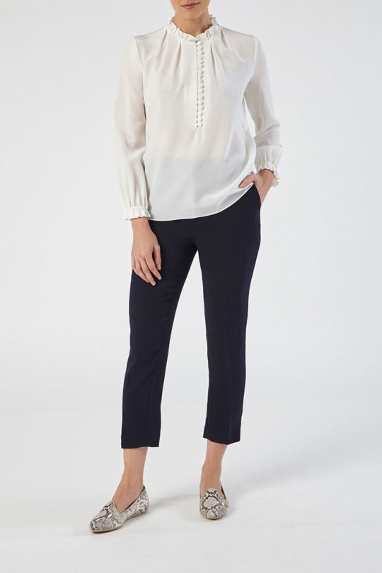 Tierney Blouse Ivory Silk 3