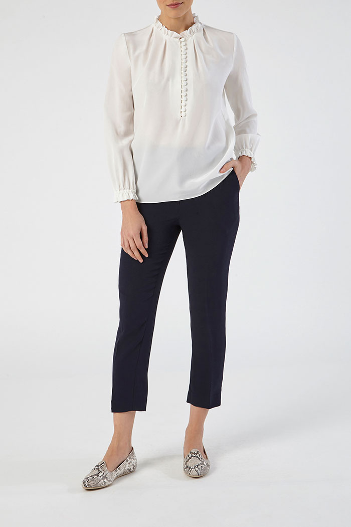 Tierney Blouse Ivory Silk