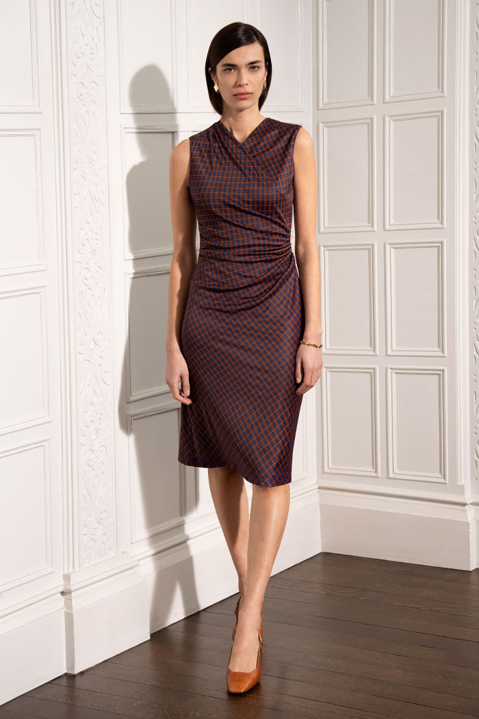 Sleeveless Belgravia Dress Printed Jersey 1