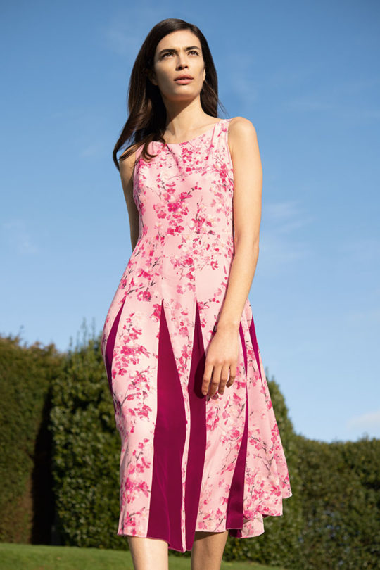 Sandbourne Dress Pink Silk Chiffon