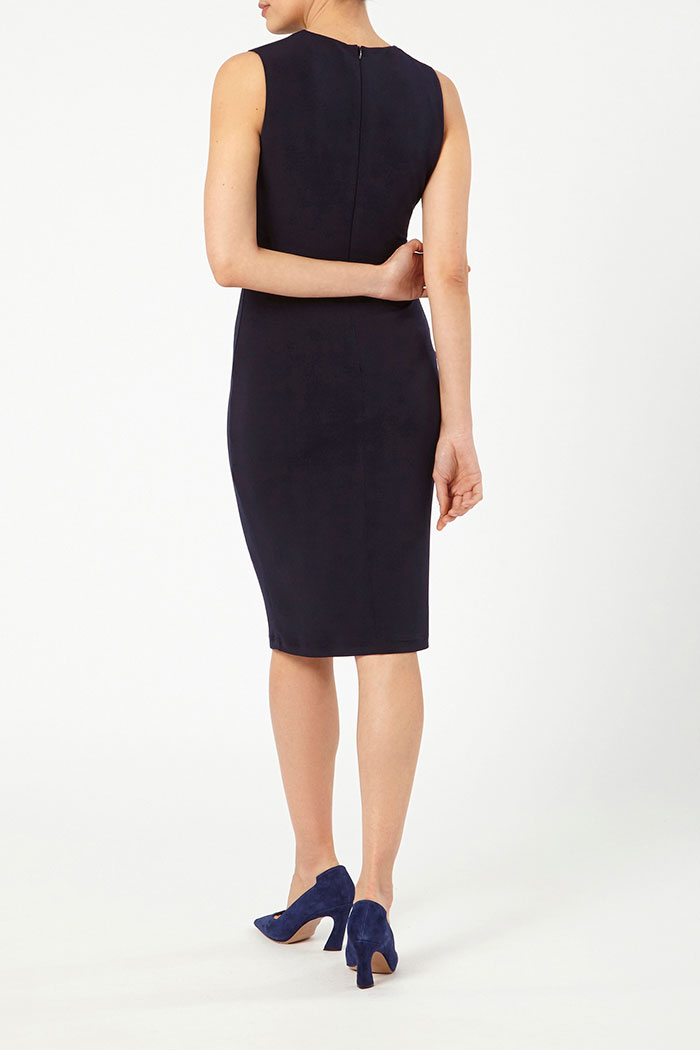 Sleeveless Clifton Dress Navy Jersey 4