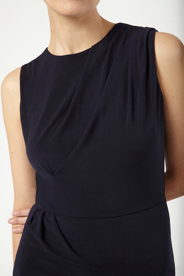 Sleeveless Clifton Dress Navy Jersey