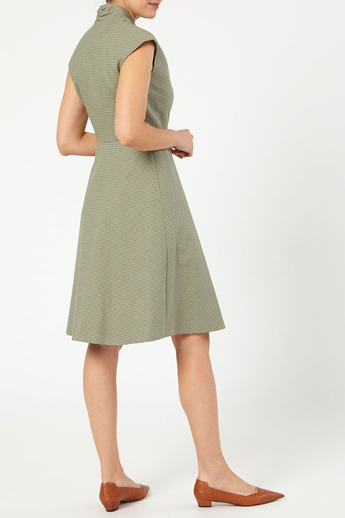Hampton Dress Green Jacquard