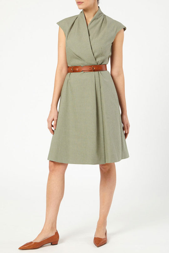 Hampton Dress Green Jacquard 3