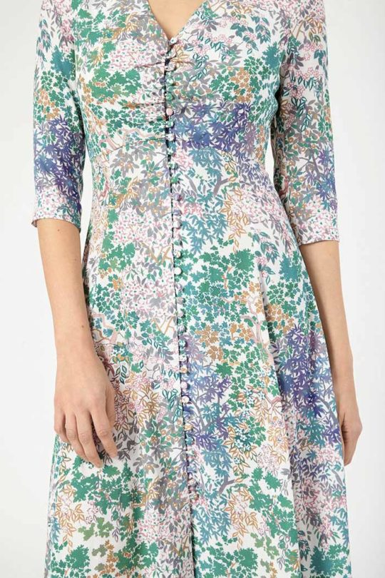 Lochaline Dress Printed Crepe