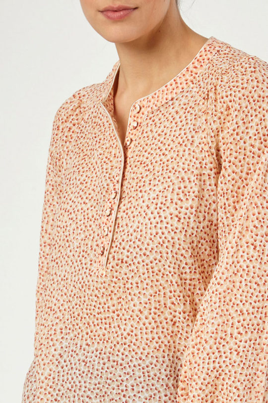 Corsica Blouse Orange Spot Cotton 2