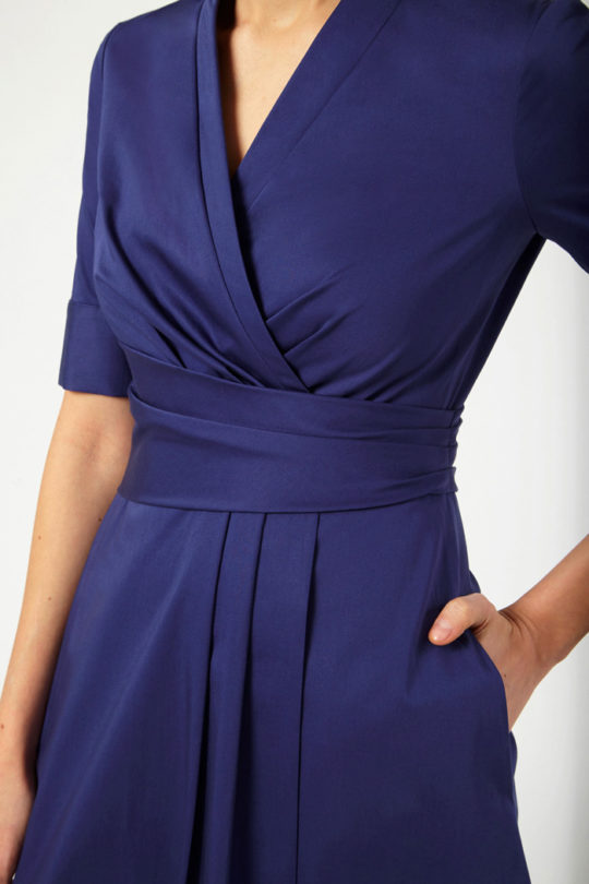 Leigh Dress Indigo Stretch Cotton