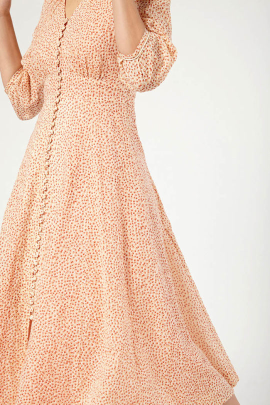 Loire Dress Orange Spot Cotton